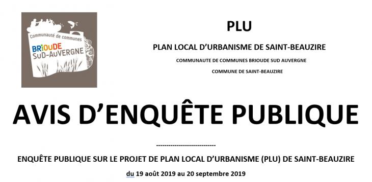 PLU Saint-Beauzire